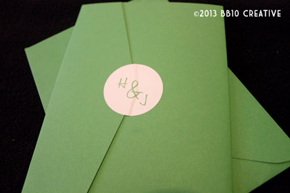 green tree branch wedding invitations