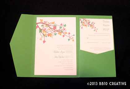 fall theme wedding invitations