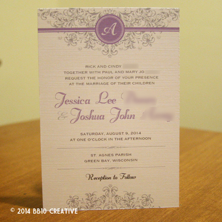 Silver Floral Wedding Invitations