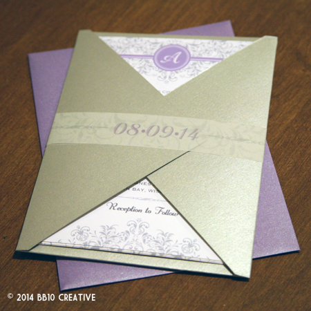 Lavendar Floral Wedding Invitations